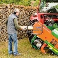 Holzsäge für Brennholzschnitt ergonomische Bedienung