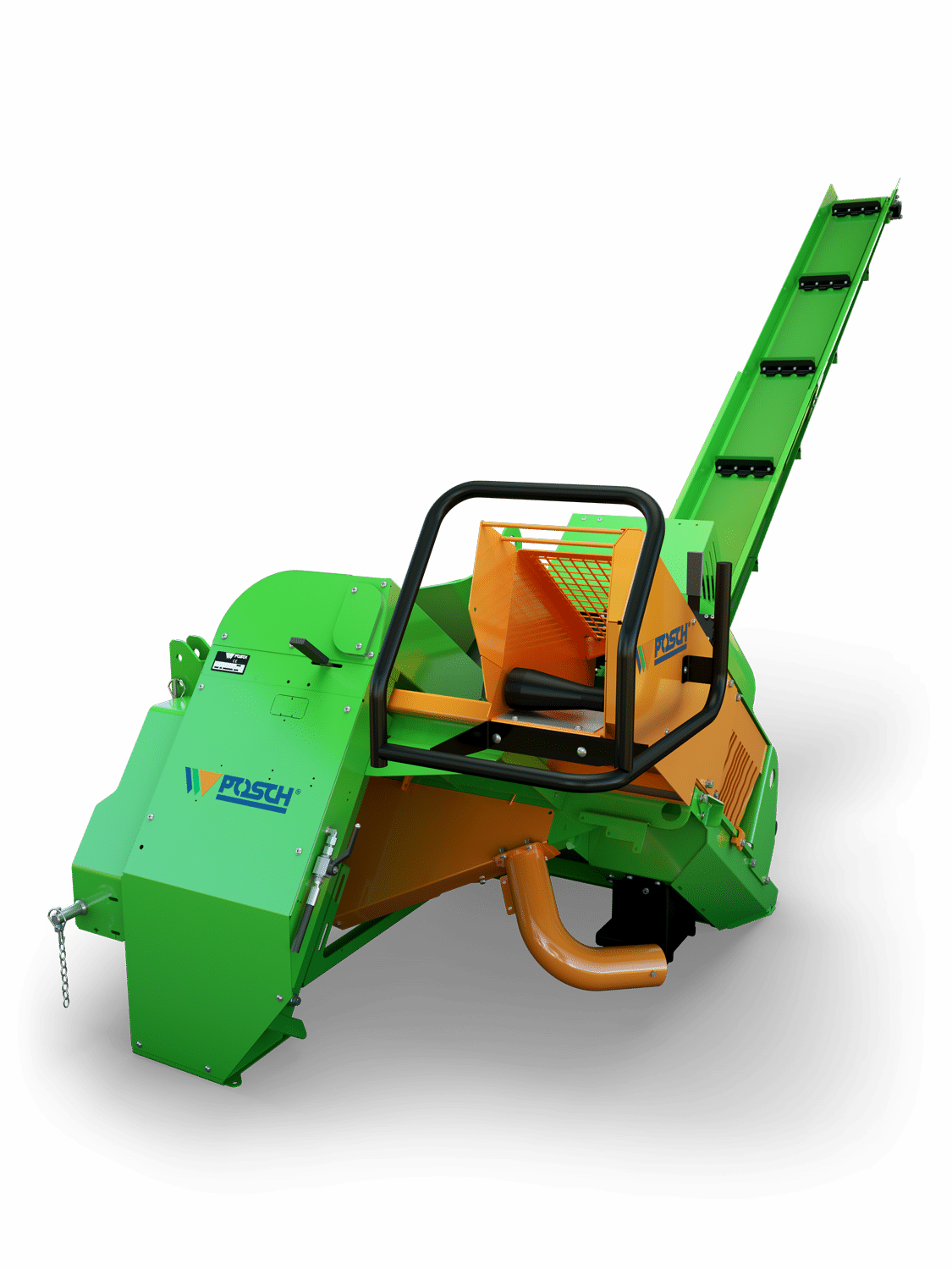 Posch semi-automatic firewood saw with conveyor belt