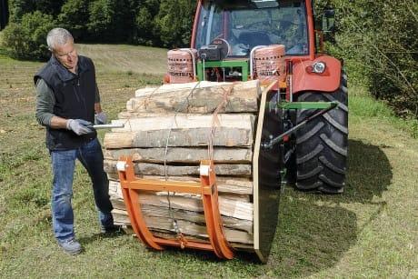 Bündelgerät Vorrichtung zum Bündeln von Brennholz