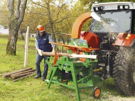 Entrindungsmaschine, Rundholz einfach schälen und spitzen für Ihren Zaun