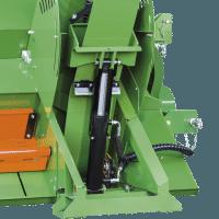Brennholzsäge hydraulische Förderband-Verstellung