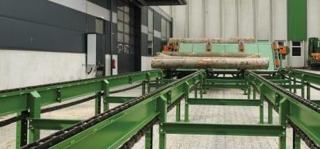Holzzufuhr, Querförderer PLUS, Rundlinge
