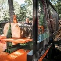 Holzspalter Liegendspalter Sicherheitspaket