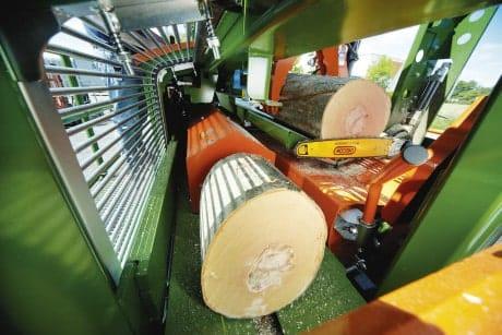 Spalthubeinstellung Sägespalter Meterholz
