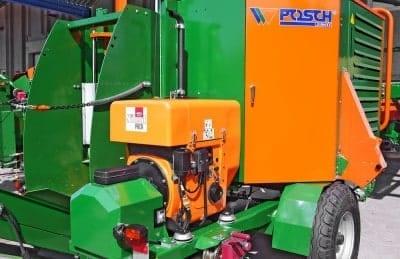 Brennholzautomat Antrieb über Dieselaggregat