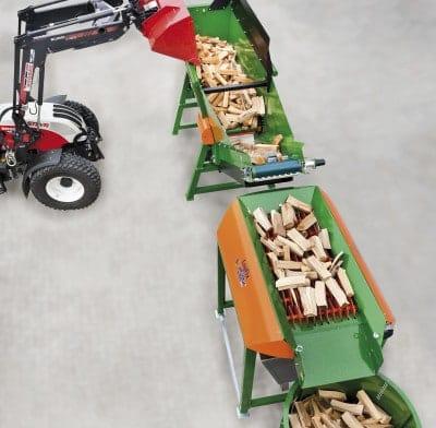 Scheitholz Brennholz-LogFix Reinigung Scheitholzsieb Logfill