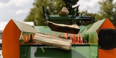 Reinigungssieb Brennholz, Scheitholz reinigen Scheitreinigung