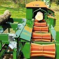 Zuführtisch Stammbeschickung zur Brennholzaufbereitung