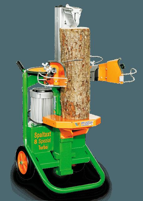 Holzspalter Kurzholzspalter, Meterholz möglich, stehend, Spaltaxt, Spaltkraft 8 Tonnen, E-Motor, komfortabel Holzspalten mit Holzhaltespitze