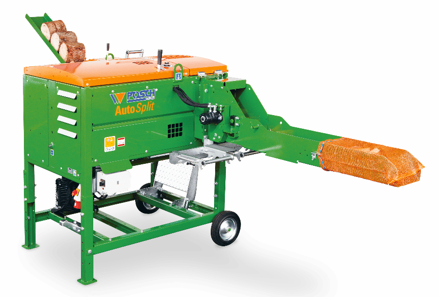 Posch automatic kindling machine automatic trimmings machine with 9kw E-motor, splitting power 5 tons, driven by E-motor