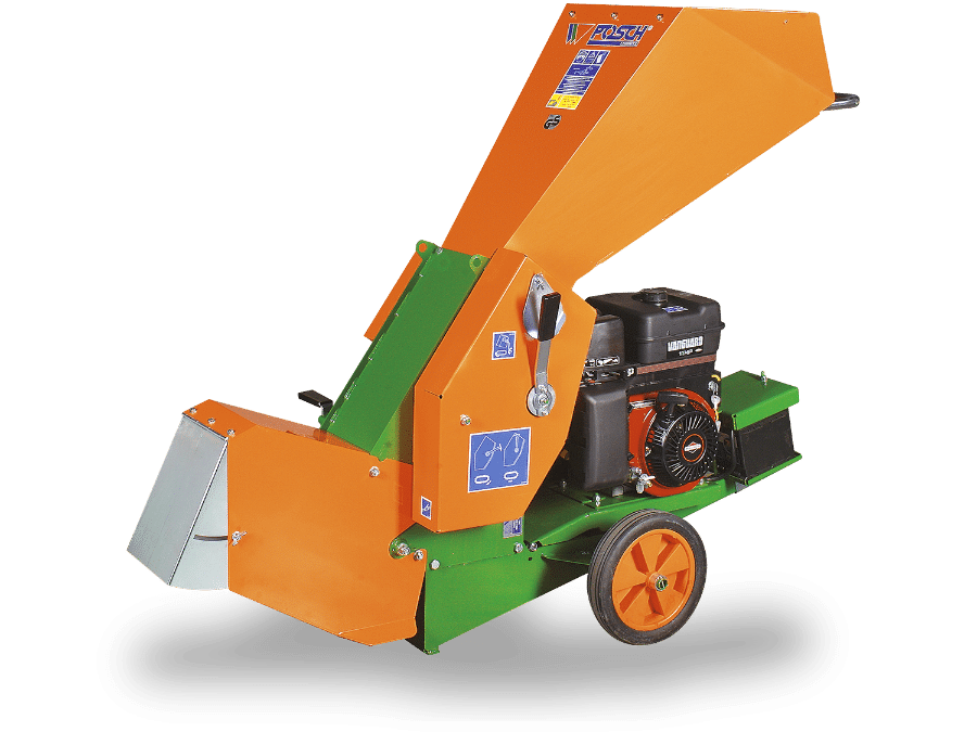 wood chopper for compost processing with petrol engine