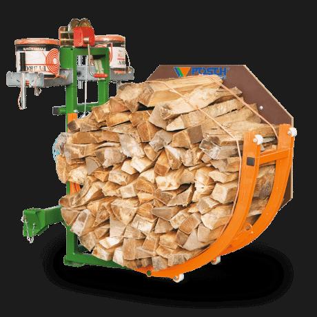Meterholz kostengünstig bündeln mit Fybron und Vorrichtung. Brennholz bündeln