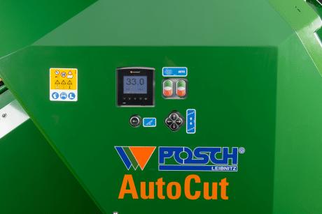Sägeautomat für Brennholz, automatische Einstellung der Scheitholzlänge bzw. Schnittlänge