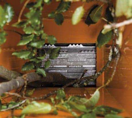 Gartenhäcksler, Ketteneinzug, Kompostierung, Buschwerk