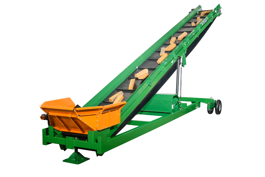 Conveyor belt with more power. Length up to 8m suitable for firewood processors and automatic splitting machines.