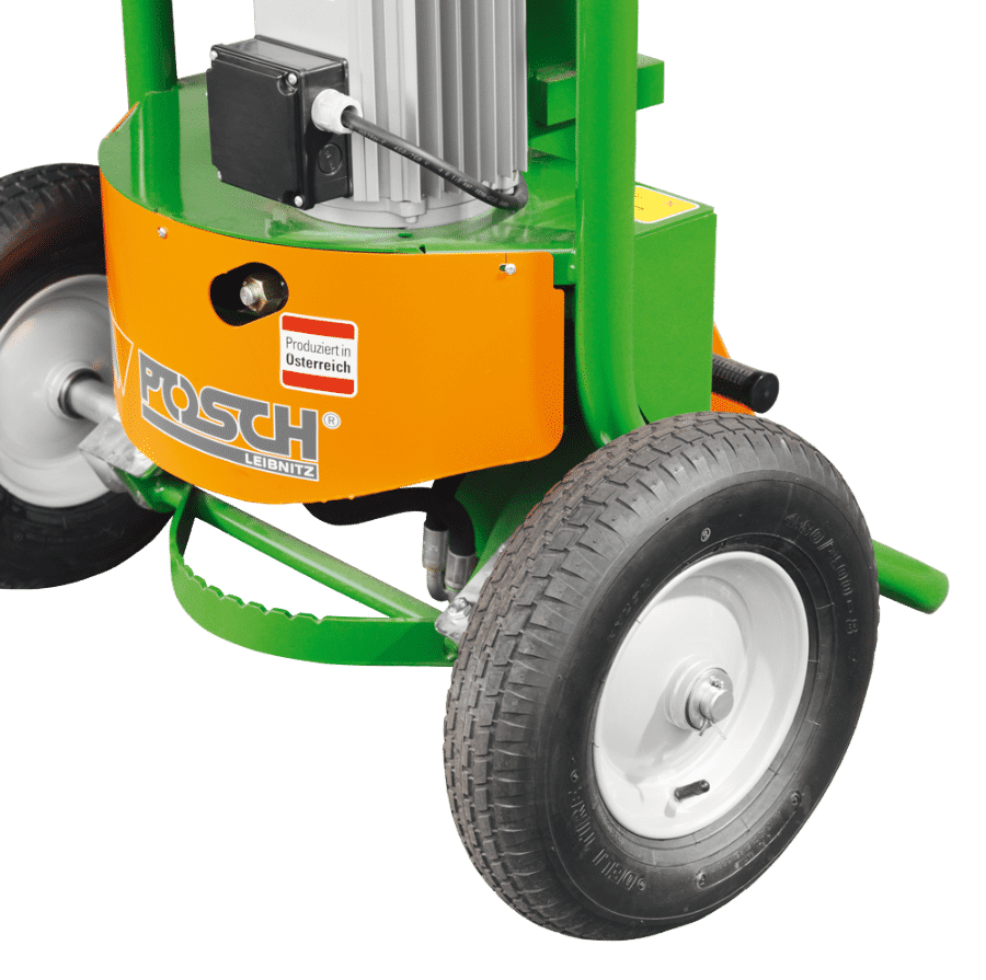 Posch wood splitter mobile with larger wheels