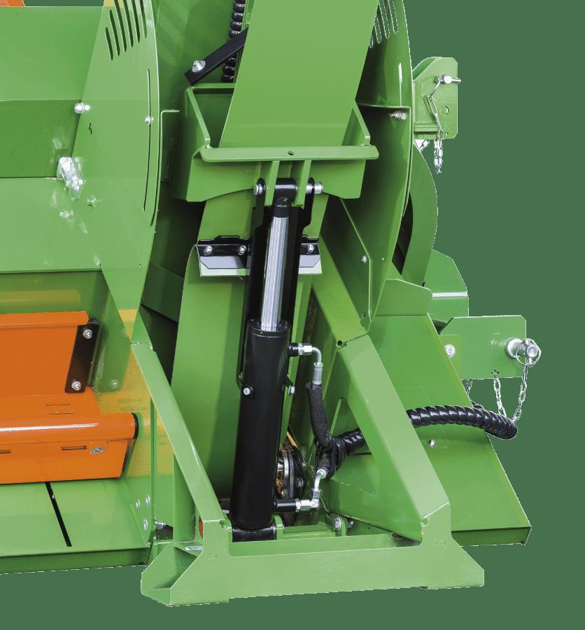 Posch height-adjustable conveyor belt for timber
