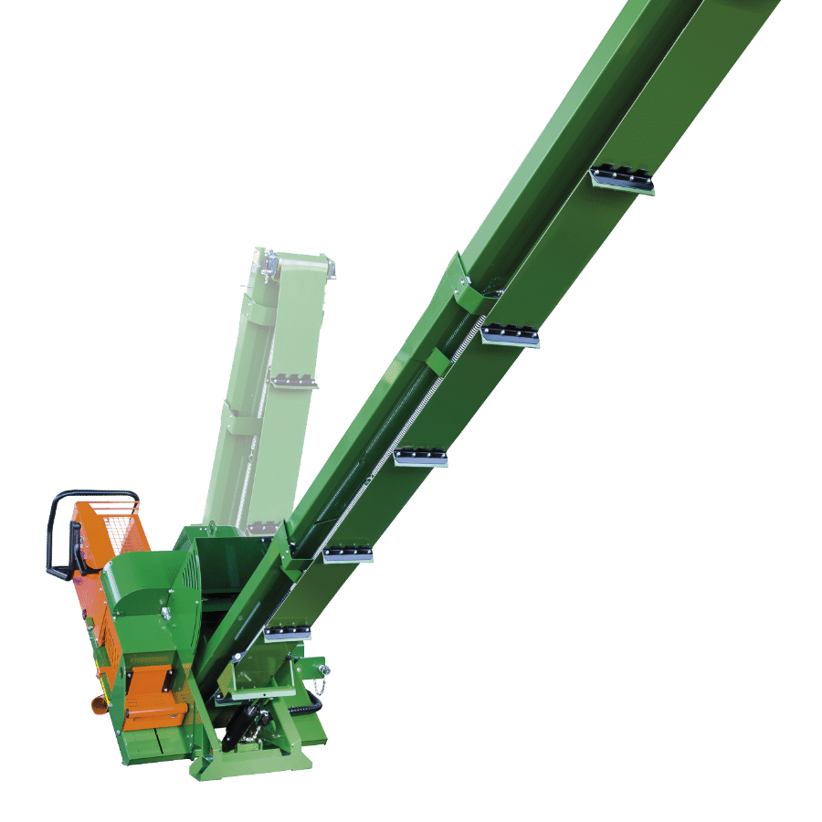 Posch telescoping conveyor belt for timber
