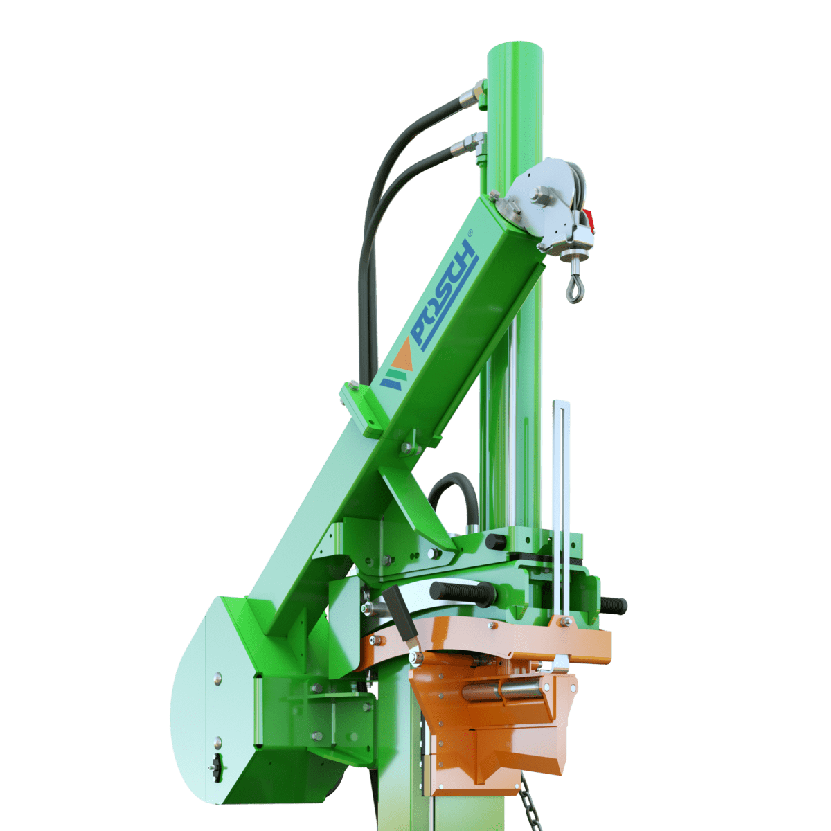 Posch rope winch for wood splitter, pulling force 1000 kg