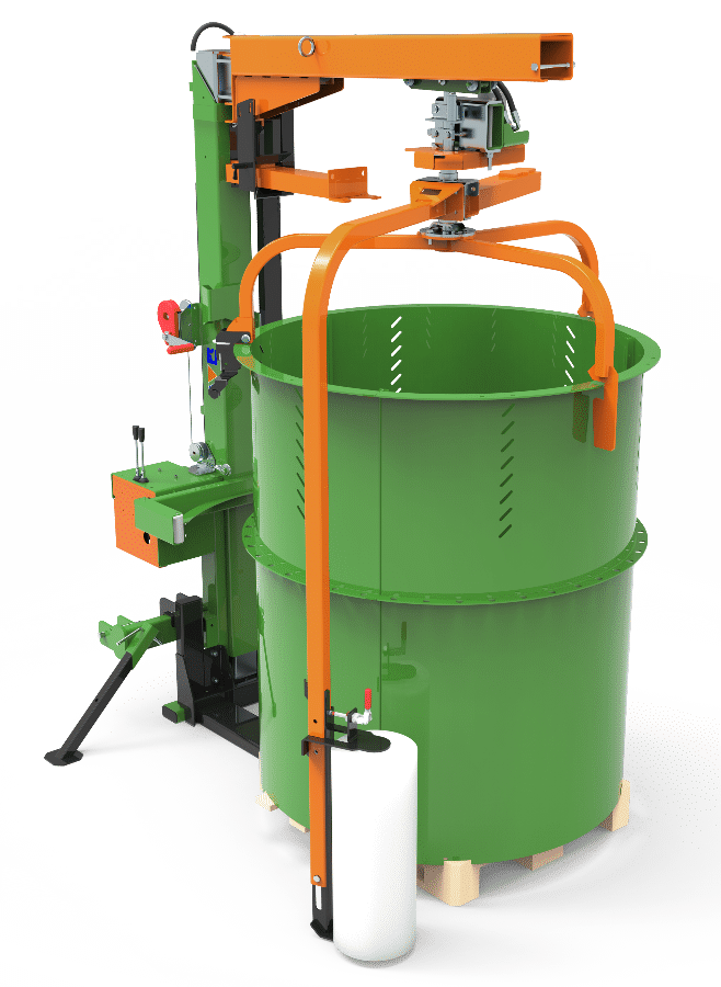 Posch packaging machine for firewood. Mobile design.