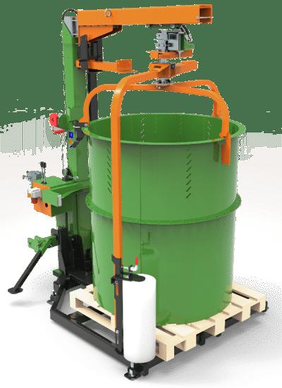 Posch Verpackungsmaschine für Brennholz. Kombi-Gerät: Stationäre und mobile Ausführung