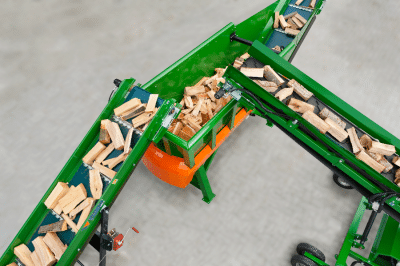 Brennholz-Puffer und -Reiniger für den Brennholzproduzenten