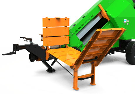Brennholz sägen, Sägeautomat mit Scheitablage