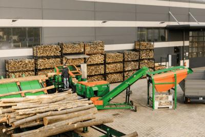 Posch, Sägespalter, Spaltautomat, Brennholzverarbeitung