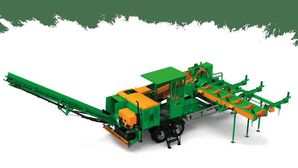 Brennholzautomat mobil, Antrieb über Zapfwelle oder Dieselmotor, Spaltautomat mit einstellbarer Scheitgröße, Zuführtisch für reibungslosen Ablauf