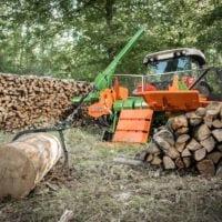 Seilwinde für Holzspalter liegend