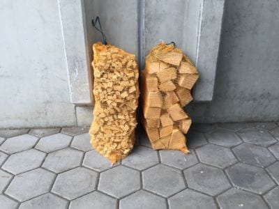 Kindling Firewood Net Sacks for the Packaging of Trimmings Splitting Machine AutoSplit Posch