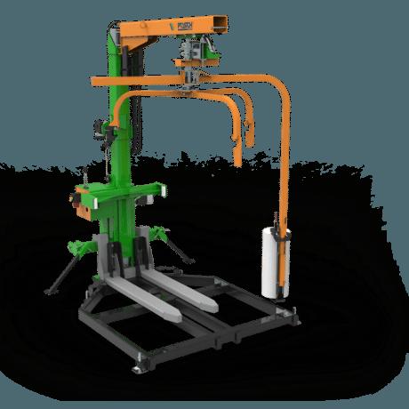 Machine d'emballage pour le bois de chauffage. Appareil combiné Version stationnaire et mobile