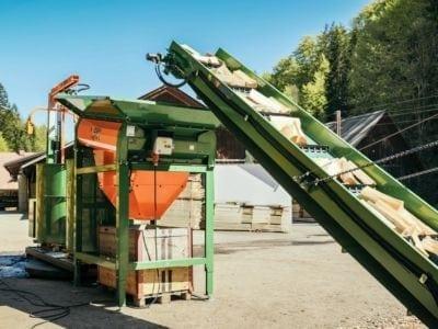 Brennholzautomat, Förderband, Posch