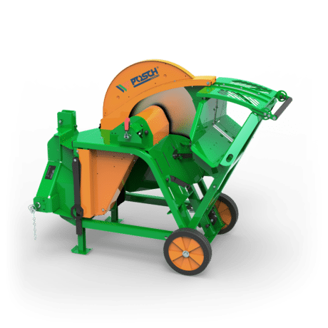Brennholzsäge mit Antrieb über Zapfwelle vom Schlepper