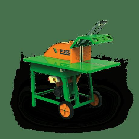 Kreissäge für die Holzarbeit, Antrieb über E-Motor, Posch