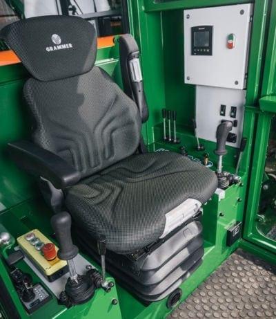 Sägespalter mit Kabine und integrierter Heizung und Klimaanlage