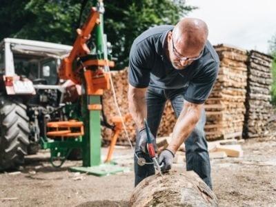 Holzspalter Seilwinde, Arbeitsweise