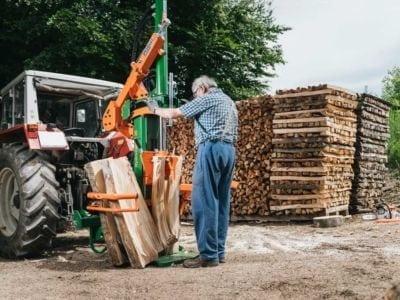Holzspalter für Traktor, Meterholz, Posch