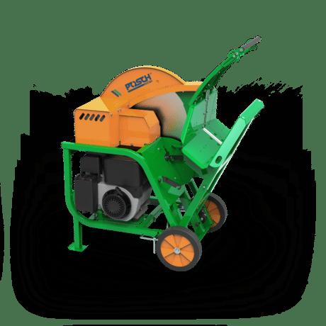 Wippkreissäge, Brennholz sägen, Antriebe über Benzin-Motor