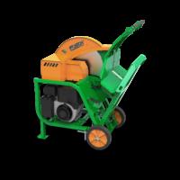 Wippsäge mit Benzinmotor Antrieb, zum Brennholz schneiden, Vollgummiräder