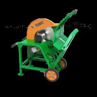 Wippsäge mit elektrischem Antrieb, zum Brennholz schneiden, Vollgummiräder